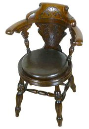 Victorian Carved Oak CaptainsH