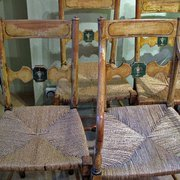 A set of Regency painted Chair