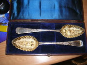 PAIR George IV Silver Berry Se
