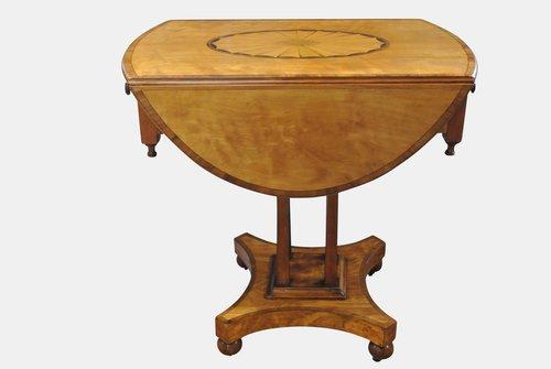 19th c Satinwood Lamp Table