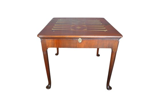 Antique George II Triple Top Backgammon Table