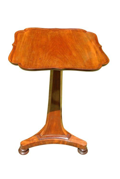Antique Mahogany Dish Top Wine Table