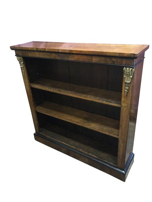 Antique Walnut Open Bookcase