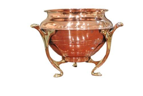 Art Nouveau Brass Planter