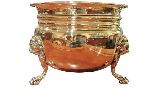 George III Brass Planter