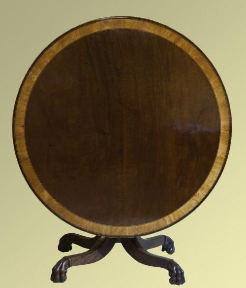 George III Circular Tilt Top Table