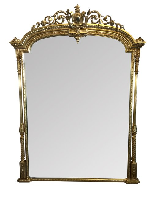 Large Antique Overmantel Mirror