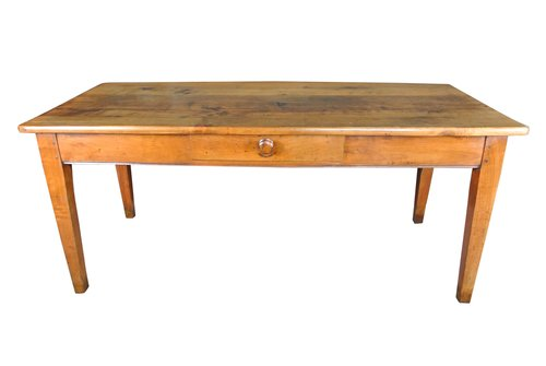 Large French Cherrywood Farmhouse Table