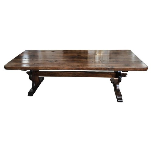 Large Solid Antique French Farmhouse Table