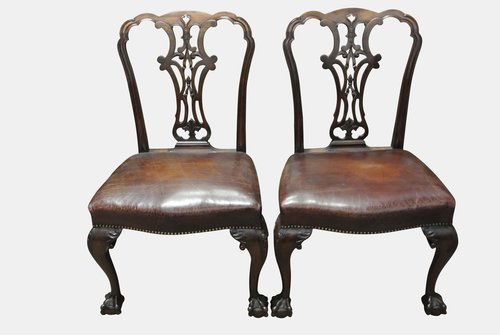 Pair Fine George II Side Chairs