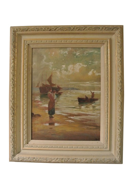 Pair of Coastal Scene Paintings