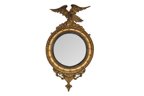 Small Convex Mirror With Eagle