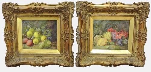 Small Pair Of Still Lifes By Vincent Clare
