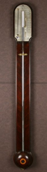 Early Mahogany Stick Barometer