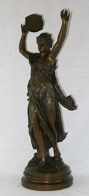 19th C French Bronze Dancing F