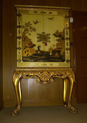 19th C French Chinoiserie Lacq
