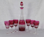 English Cranberry Decanter and