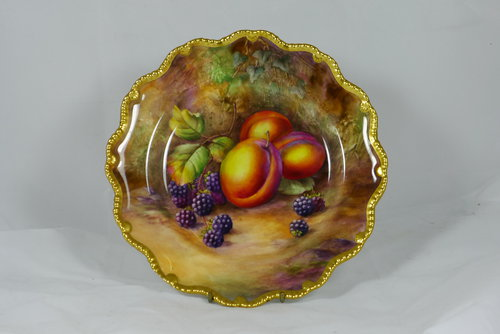 Signed Royal Worcester Cabinet Plate