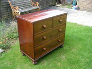 Small mahogany bowfront chest