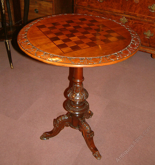 French 19th century fruit wood chess table antiques atlas - Wooden chess tables ...