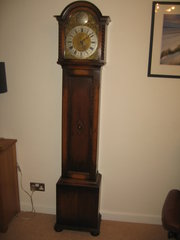 1920s oak long case clock