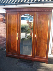 Edwardian mahogany three door