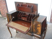 Unusal  mahogany writing desk