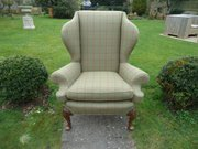 19th Century wingback armchair