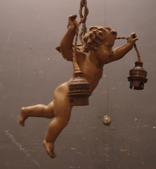 Antiques Atlas Antique French Cherub Ceiling Light