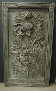 Large carved wood decorative p