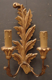 Pair of French Giltwood Wall L