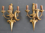 Pair of carved giltwood wall l
