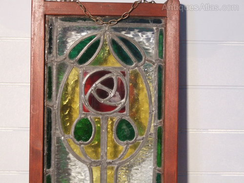 Antiques atlas arts amp crafts stained glass window