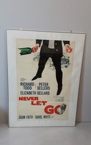 Stylish 1960 framed film poste