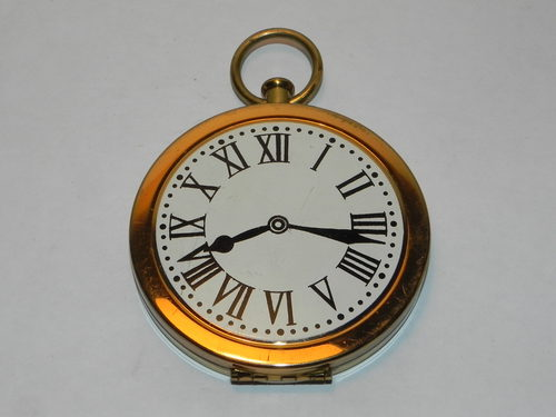 Rare Station Masters Pocket Watch Powder Compact