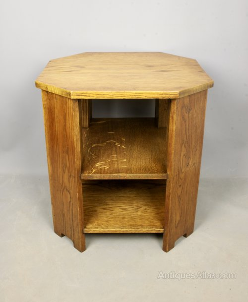 Art Deco Golden Oak Book Table c1930