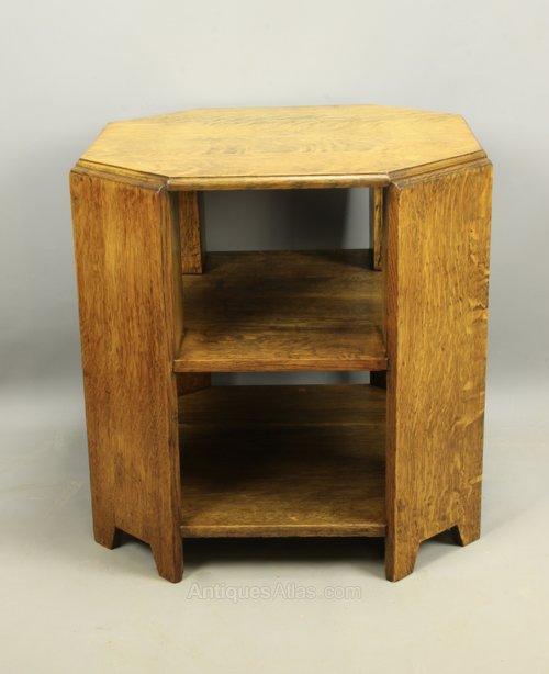 Art Deco Oak Book Table, c1925