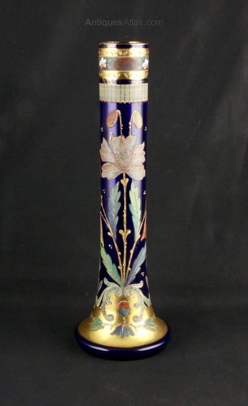 Art Nouveau Bohemian Glass Vase circa 1910