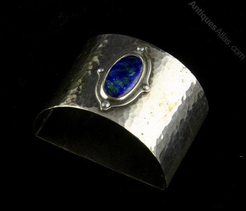 Art Nouveau Cambray Ware Enamel Napkin Ring c1910
