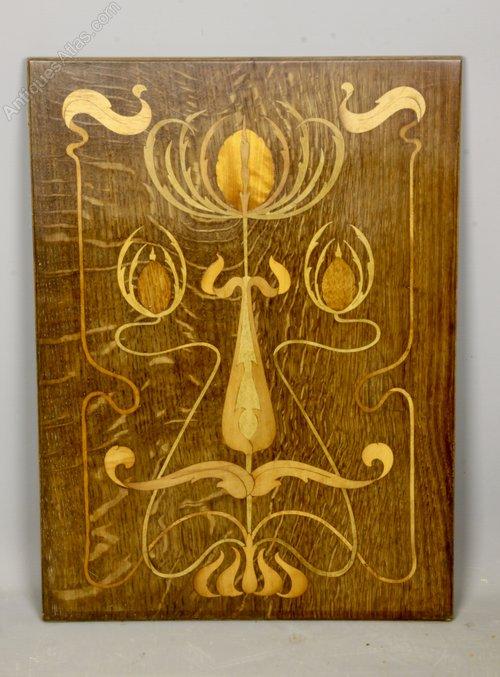 Art Nouveau Inlaid Panel circa 1910