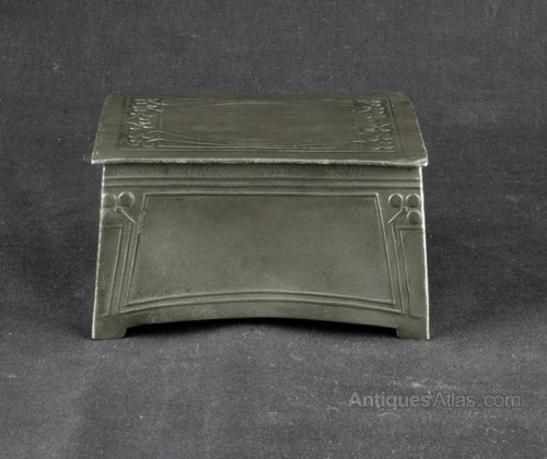 Art Nouveau Osiris Pewter Box Circa 1900