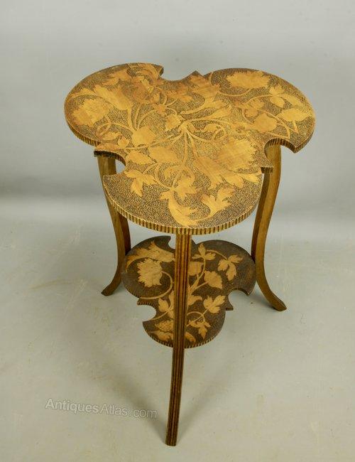 Art Nouveau Poker Work Table c1910