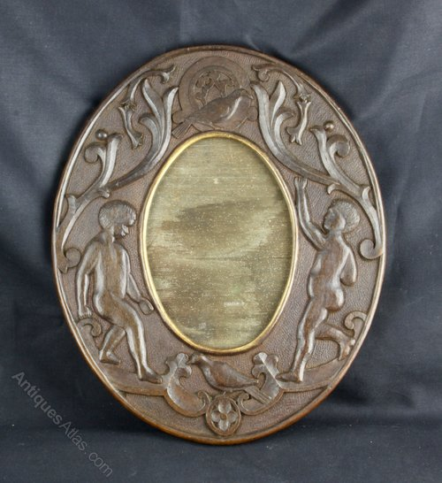 Arts & Crafts Carved Wood Frame circa 1900