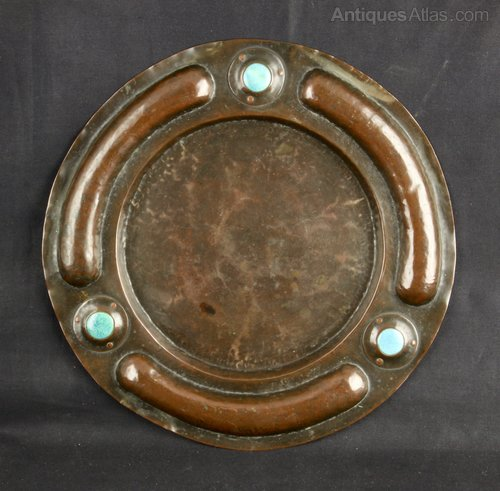 Arts & Crafts Copper & Ruskin Dish circa 1910