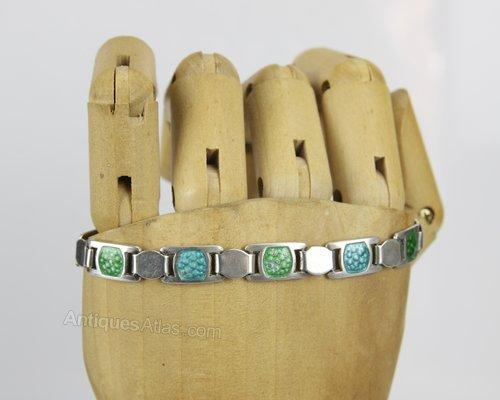 Arts & Crafts James Fenton Silver Enamel Bracelet