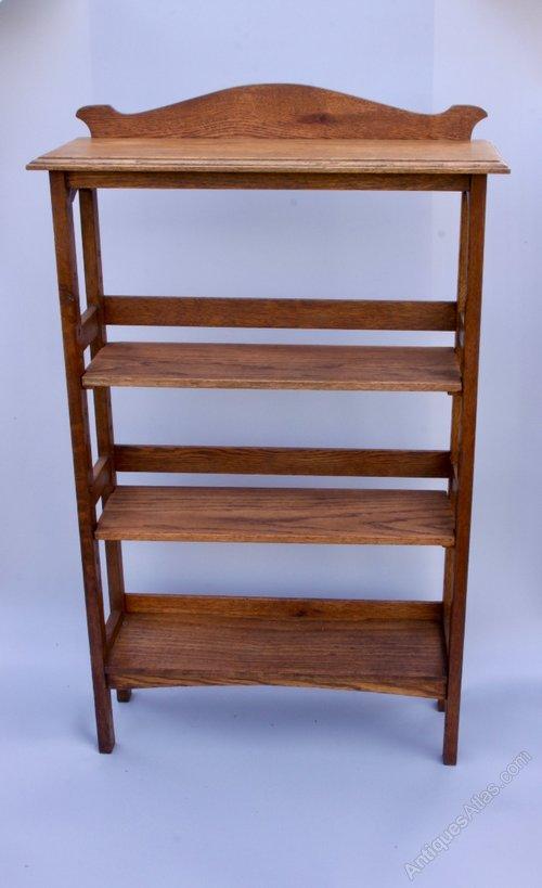 Arts & Crafts Oak Adjustable Bookcase circa 1910