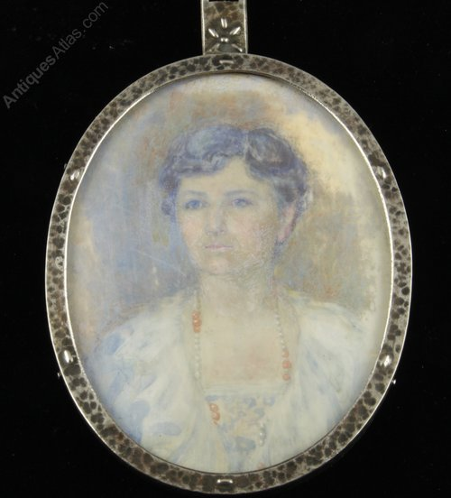 Arts & Crafts Portrait Miniature Circa 1910