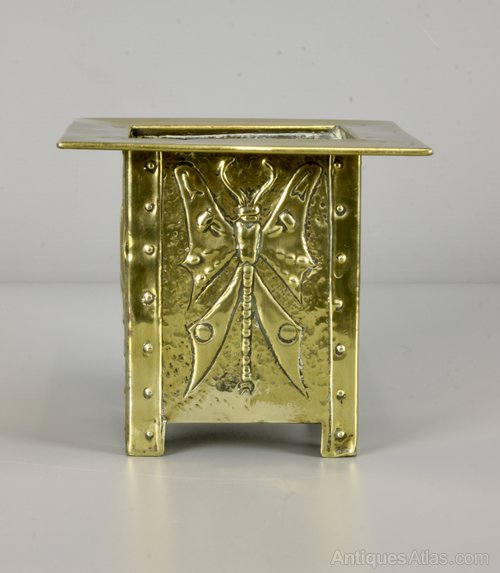 Glasgow School M Gilmour Brass Planter c1900