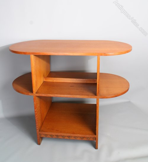Golden Oak Arts and Crafts Heals Style Book Table