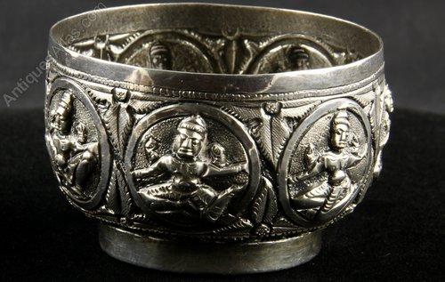 Indian Silver Madras Swami Bowl circa 1900